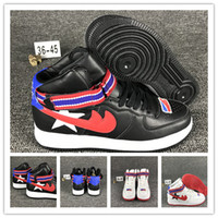 Wholesale Boots Flat For Woman - 2017 Riccardo Tisci x Air 1 High Sneakers Premium Black Winter Leather Hi Athletic Shoe Women Sports Boots for Men Size 36-45