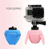 Wholesale remote control mini robots for sale - Group buy RK Elf Mini Panorama Robot For Selfie Sticks Photography With Gopro Adapter And Bluetooth Remote Control