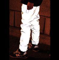 ingrosso pantaloni corti degli uomini-All'ingrosso-Hot! Bboy uomini nuovo inverno di marca casual moda baggy hip hop cavallo basso palestra uomo vestiti 3 m pantaloni riflettenti pantaloni pantaloni