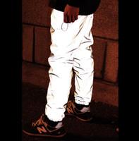 mens drop gabelung hose großhandel-Großhandels-Heiß! Bboy Männer neue Wintermarke beiläufige Art und Weise baggy Hip-Hop-Tropfengabelung-Turnhallenmannkleidung 3m reflektierende Joggerhosenhose