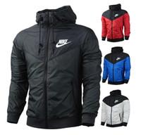 Wholesale Running Jackets For Men - Hot sale Fashion jacket windbreaker men Autumn Spring long sleeve hooded jackets for men women Sports running jogging women jacket coats