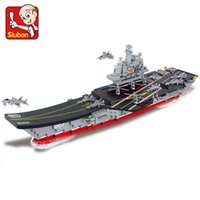 Wholesale Sluban Aircraft - FG1511 Sluban building blocks 1:450 Aircraft carrier 4 Antisubmarine helicopters 4 Stealth aircrafts 4 fighter planes 4 patrol yachts