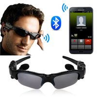 Wholesale Bluetooth Sunglasses Iphone - Wireless Bluetooth SunGlasses Headset Headphones Handfree For iPhone Samsung HTC