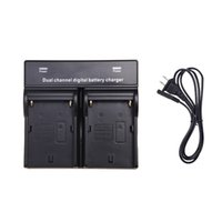 Wholesale Digital Camera Dc - 2014 Dual AC DC Digital Battery Charger for SONY NP-F970 F750 F960 QM91D FM50 FM500H FM55H Battery Camera Black