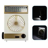 Wholesale Mini Solar Led Garden Lights - Portable Fan 3 in 1 Multi-function Mini Fan LED Table Lamp Flashlight Solar Light for Home Camping Solar Fan for Outdoor