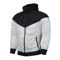 fermuarlı kollu hoodie toptan satış-Sonbahar Erkekler Tasarımcı Ceket Kaban Spor Marka Uzun Kollu Fermuar Rüzgarlık Ile Kazak Hoodie Mens Giyim Hoodies Tops