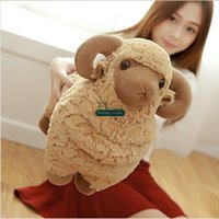 Wholesale toy goats for sale - Group buy Dorimytrader Big Animal Sheep Toy Stuffed Soft Plush Cute Lovely Goat Doll Pillow for Children Gift inch cm DY60924