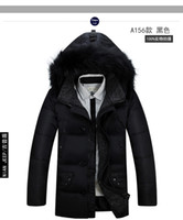 Wholesale Clearance Long Down Coat - White Duck Down Jacket New Arrival NIAN JEEP Men's Extra Thick Down Jacket Outdoor Men's Middle Long Huge Fur Collar Coat Clearance Sale