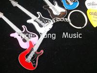 Wholesale Acoustic Guitar Picks Plectrum - ST Style Electric Guitar Keychain(5 Colors)+30pcs Acoustic Electric Guitar Picks Plectrums Free Shipping Wholesales