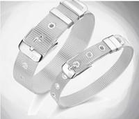 Wholesale Sterling Silver Watch Bracelets - Korean fashion 925 sterling silver bracelet strap watch band Bracelets
