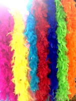 Wholesale Turkey Feather Boa Scarf - wholesale-Turkey feather boa scarf Fire chicken-feather wedding party decoration turkey feather boa colorful free shipping