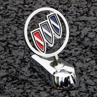 Wholesale Buick Excelle - 3D Buick Shield Metal Front Hood Logo Badges Luxury Car Bonnet Emblem Stickers for Regal Excelle Lacrosse