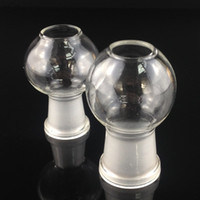 Wholesale Wholesale Glass Oil Domes - glass dome Manufacturer 2pcs lot conventional 14&18.8mm glass dome for water pipe glass bong Oil rig accessories free shipping