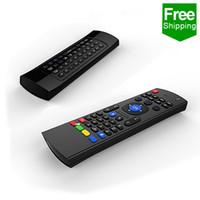 тв фильмы бесплатно оптовых-Mini X8 беспроводная клавиатура Fly Air Mouse Remote G Sensing датчики гироскопа MIC Combo MX3 беспроводная мышь для бесплатных фильмов android free tv box
