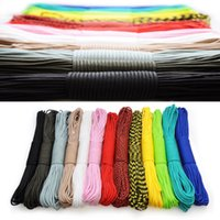 Wholesale Climbing Lanyards - 100ftx10pcs 550 paracord Parachute Cord Lanyard Rope Mil Spec Type III 7 Strand core 50 colors for option