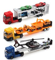 Wholesale Toy Alloy Cars Set - wholesale boy toys model car truck machineshop car 2 sets excellent christmas festival gift alloy meral environmental protection material
