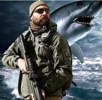 hoodies do exército para homens venda por atacado-TAD Discrição Tubarão Pele À Prova D 'Água Militar Jaqueta Ao Ar Livre Dos Homens Esporte Softshell Caminhada caça Tático Camuflagem Do Exército Com Capuz Casacos Conjuntos