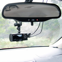 Wholesale R300 quot LCD Wide Angle High Definition Dual Lens Dash Cameras Car Camera GPS Logger and G sensor R300 Car DVR R300