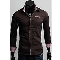 Wholesale Cotton Thicken Shirt - Mens High Neck Knitwear Slim and Thickening Knitwear