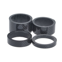 "Wholesale Wholesale Bicycle Grips - 4Pcs 1 1 8"" 5mm 10mm 15mm 20mm Carbon Fiber Washer Bike Bicycle Headset Stem Spacers Kit"