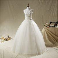 Wholesale Korean Beautiful Dresses - DH803 Fansmile Korean Lace Up Ball Gown Quality Wedding Dresses Customized Plus Size Bridal Dress beautiful lace mermaid Wedding Dress