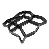 zementformen groihandel-Neues Design Kunststoff Path Maker Form Manuell Pflaster / Zement Backstein Formen Die Stein Straße Hilfswerkzeuge Für Garten Decor