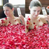 dried flowers supplies оптовых-Бесплатная доставка спа поставляет цветок/отбеливания кожи макияж продукта/ лепестки ванна / лепестки душ / сушеные лепестки роз 50г / мешок