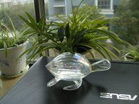 Wholesale Hand Blow Vase Wholesale - 12.5*5.5cm Hand Blown Glass sea turtle Sculpture water planter vase for Home Decor