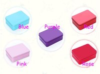 Wholesale Large Wedding Favor Boxes - 30Pcs Lot Rectangle Tin Box Large Size 12.2*9*4.3CM Multi DIY Candy Boxes Favor Holders Gift Box 2016 Spring Style