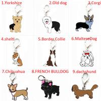 étiquettes de charmes de chien achat en gros de-Breloques et pendentifs de collier de chien animal en métal argenté pour bracelet, carte d'identité pour animal de compagnie en vrac pendent fabrication de bijoux, étiquette d'identité de chien en émail en alliage