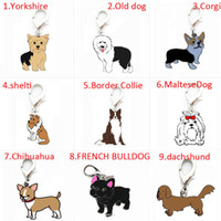 Wholesale Id Tags For Dogs - Mixed silver Metal animal dog collar charms and pendants for bracelet, bulk pet identity card dangle jewelry making, alloy enamel dog ID tag