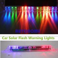 ordenando luces solares al por mayor-1 x Luces solares de flash para automóviles previenen la advertencia de la parte trasera Piloto de luz de piloto Solicitud de $ 18no track