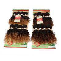 Wholesale Machine Attachments - Unprocessed brazilian hair bundles Cheap 8pcs lot afro kinky curly hair extension kinky curly weave hair bundles