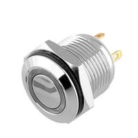 ingrosso od ring-Terminali di Pin di pulsante illuminati anello blu LED di 1PCS 16mm OD impermeabili Trasporto libero, dandys