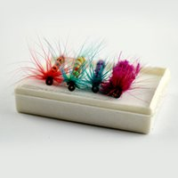 Wholesale Salmon Fishing Baits - Fly Fishing Hooks 96pcs Set Insects Style Single Hook Fish Lure Dry Fly Fishing Tackle Trout Salmon Flies Fly Tackle Se