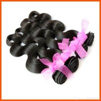 Cheap Body Wave Unprocessed Remy Hair Weave 6A Malaisie Virgin Hair Bundles 100% Hair Extensions Black Color 3 / 4pcs Lot