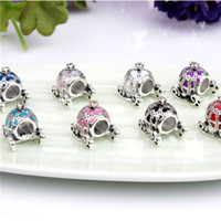 Wholesale Princess Carriages - Princess Pumpkin Carriage Charm Bead 925 Silver Fashion Women Jewelry Stunning Design European Style For DIY Bracelet PAD-39