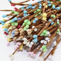 Wholesale dried flowers bracelet for sale - Group buy 10 Colors cm Diy Eco Friendly Matte Pip Berry Stem For Floral Arrangemanet Bracelet Wreath Wedding Diy Wreath Artificial pc Fake Flower
