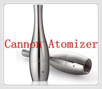 Wholesale metal orbs - source orb vaporizer wax attachment concentrate burning dual ceramic coil quartz coil heating element cannon vase atomizer