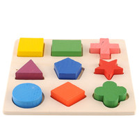 Hot Sale Geometry Shape Wooden Pattern Block Toy Montessori Building Blocks For Children Gift
