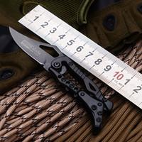 sr taschenmesser großhandel-SR Mechanisches Messer Kleine schwarze Version Pocket Outdoor Handmesser 440 Klinge Camping MultiTools All Steel Black Titanium Oberfläche