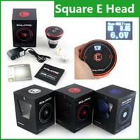 Wholesale Square Ecig - Square E head e hose e shisha 2400mAh cartridge refillable disposable Hookah Rechargeable E-Head Vaporizer ECig Kit