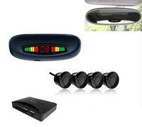 Wholesale Distance Sensor Cars - Car Parking Assistance Sensor 3 Colors LED Distance Display Rear Roof Mounting 4 Sensors Radar Kit System