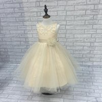 Wholesale gold prices year - 2018 free shipping lowest price kids Halloween flower girl dress 2-10 years Easter costume party girl dress