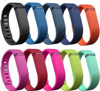 ingrosso braccialetto del polso del gps-Fitbit Flex Band Nero Con cinturino in TPU di ricambio per cinturino da polso Bracciale da polso con fibbia in metallo (No Tracker)