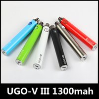 Wholesale ego v3 - UGO-V3 III ego battery 1300 mAh Vape Pen EVOD Micro USB Passthrough ECig Charger on the bottom 510 battery with charger