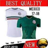 Wholesale Cheap Mexico Football Jerseys - Cheap Thailand Camisa Mexico soccer jerseys 2017 2018 CHICHARITO R.MARQUEZ G.DOS SANTOS M.LAYUN soccer shirt 17 18 football shirt jersey