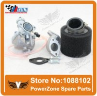 Wholesale Bike Intakes - MIKUNI Carburetor VM22 PZ26 Kit + Mainfold Intake Pipe Air Filter 125cc 140cc Dirt Pit Bike Motorcycle Carburetor Free Shipping