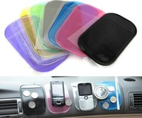 Wholesale Car Gel Cell Phone Mat - 100pcs  Lot # Non-Slip Silicone Pad Non Slip Powerful Silica Gel Magic Sticky Pad Anti-Slip Mat for Cell Mobile Phone mp3 mp4 Car