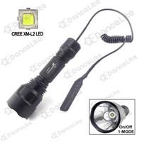 interruptor l2 venda por atacado-Atacado-1800LM New UltraFire C8 CREE XM-L2 U2 LED Hunting Tocha 1-Mode (on / off) com interruptor de pressão remoto